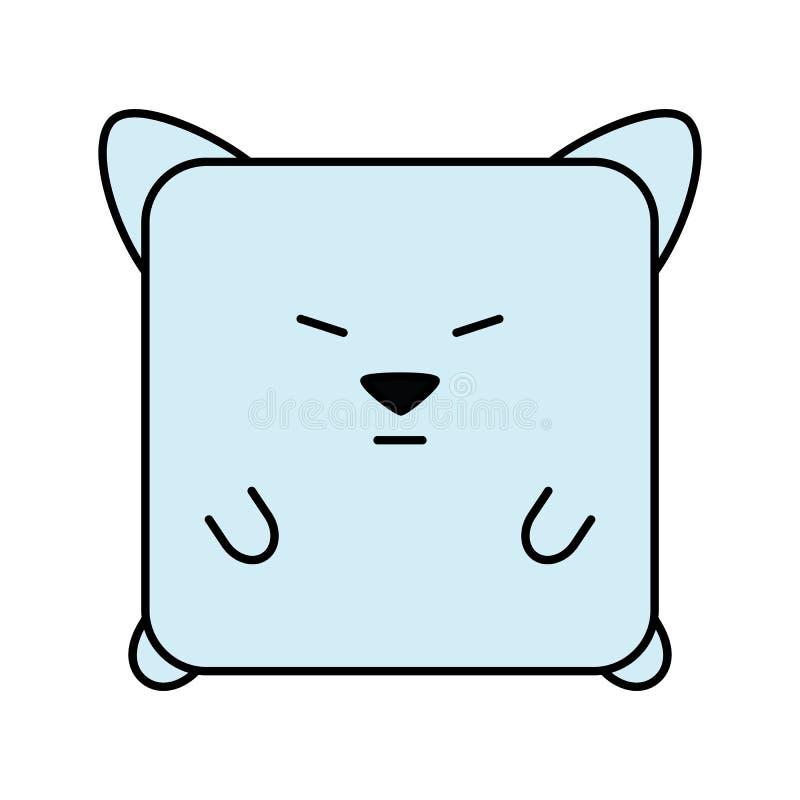 Cat emoji icon vector illustration