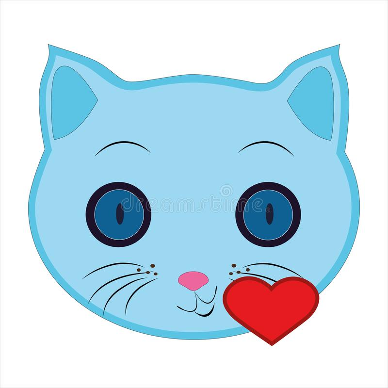 Cat, emoji, kissing heart multicolored icon. Signs and symbols icon can be used for web, logo, mobile app,,vector stock illustration
