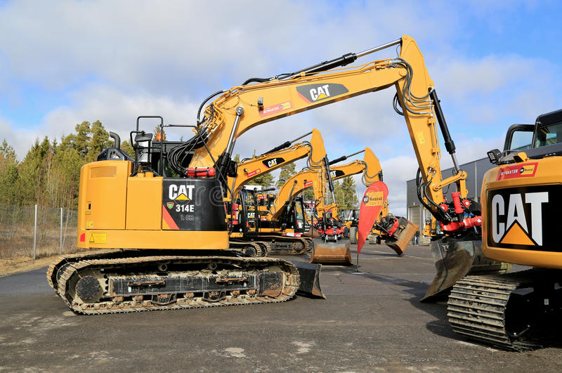 Cat Excavator and Construction Equipment royalty free stock image