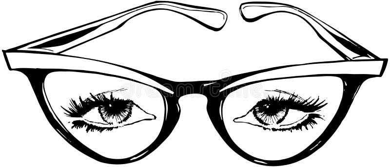 Cat Eye Glasses stock illustratie