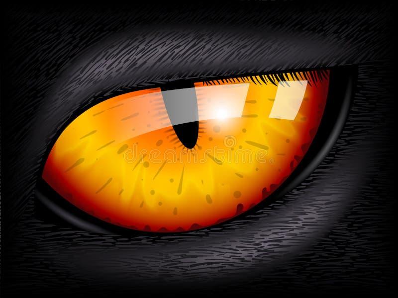 Cat Eye Image 3D réaliste illustration libre de droits
