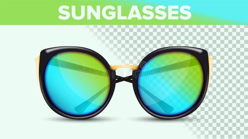 Cat Eye Sunglasses, sombras de moda del vector 3D libre illustration