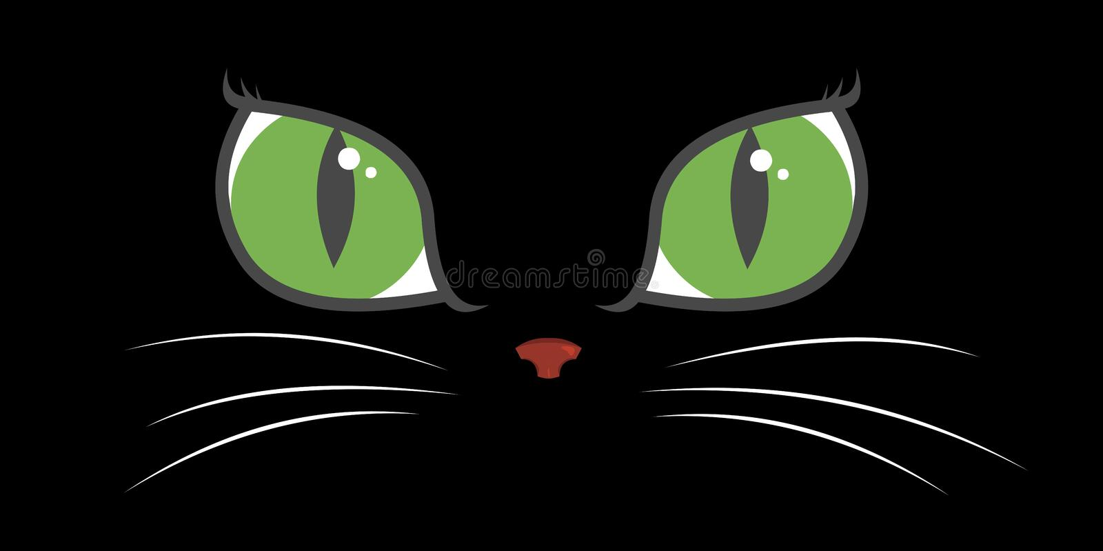 Download Cat Eyes stock vector. Image of computer, lines, hair - 1829869