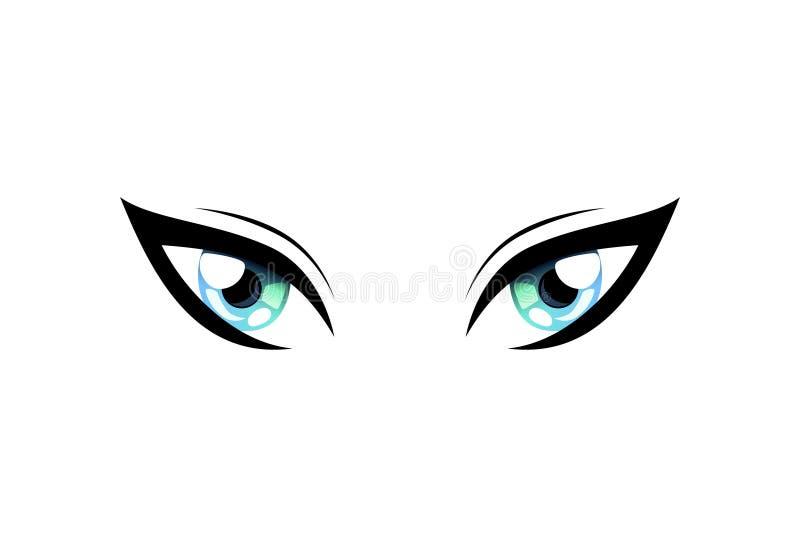 Cat Eyes hermosa brillante con los reflejos de luz Manga Japanese Style Vector Illustration libre illustration