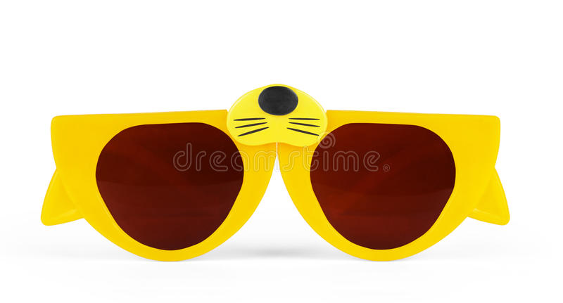 Cat eyes shaped retro glasses isolated on white with clipping pa royalty free stock image