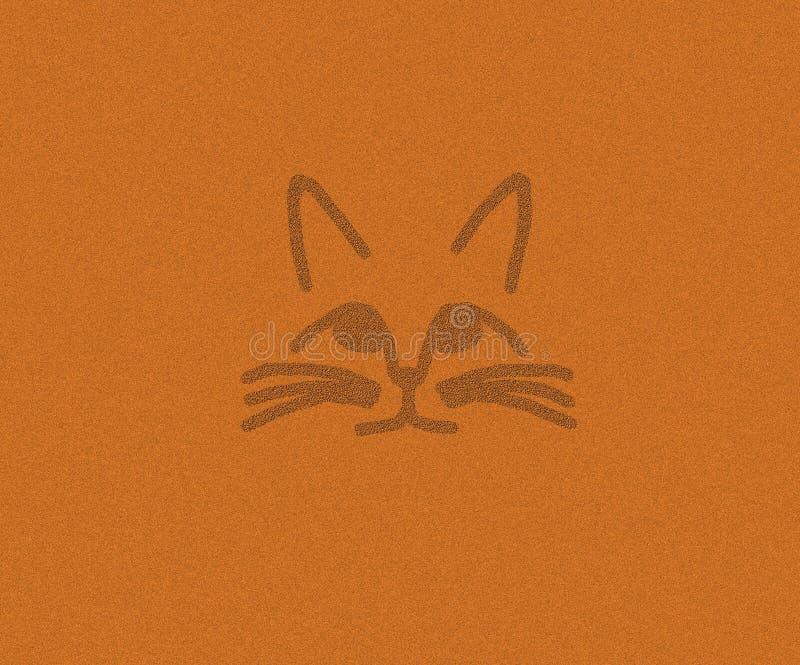 Cat Face dans le sable illustration de vecteur