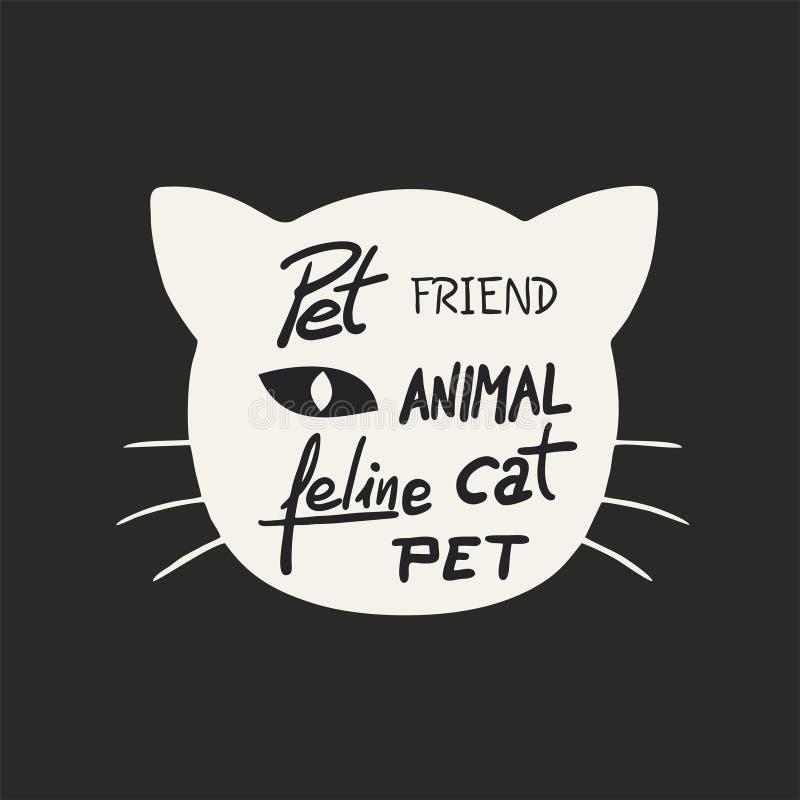 Cat Face Icon stock de ilustración