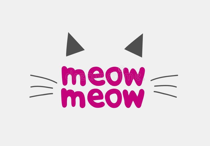 Cat Face Logo Vector Icon-Merkontwerp royalty-vrije illustratie
