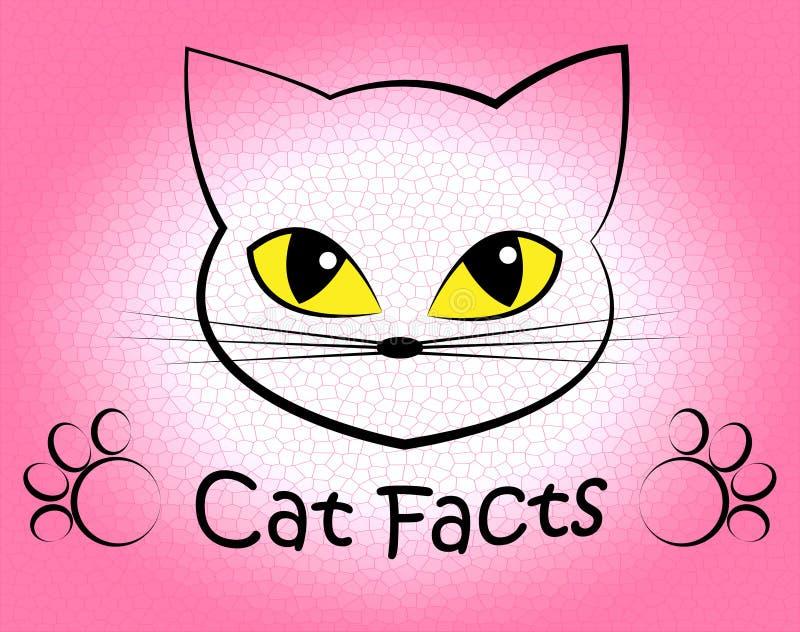 Cat Facts Shows Truth Data y Felines ilustración del vector