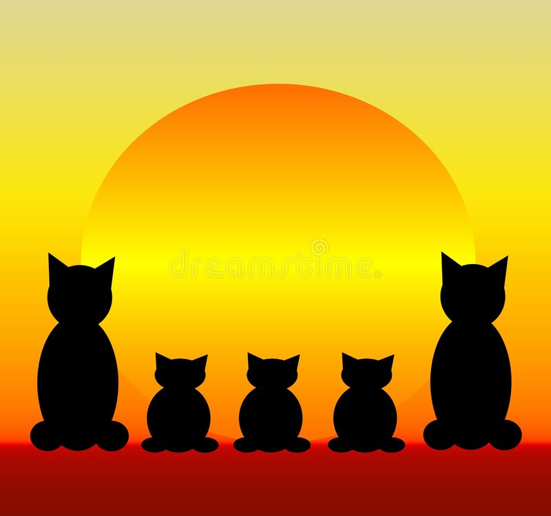 Download Cat Family Royalty Free Stock Image - Image: 1038916