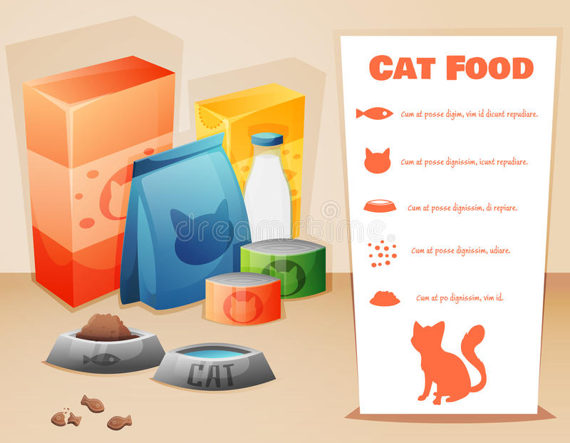 Cat food concept royalty free illustration
