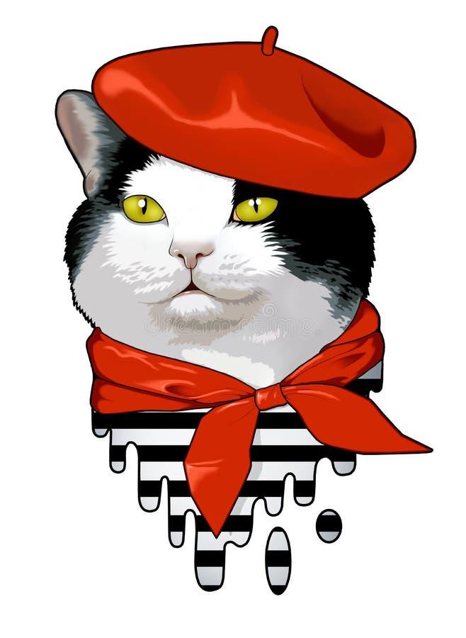 Cat Frenchman fotografía de archivo