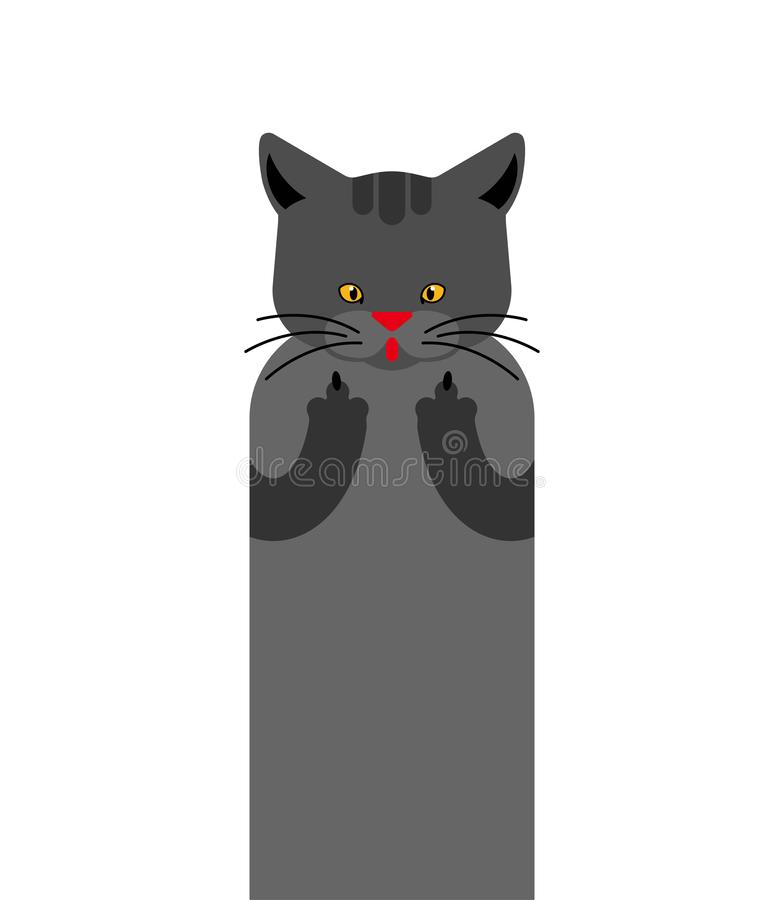 Free Cat Fuck Isolated. Pet Rude Gesture. Vector Illustration Animal Royalty Free Stock Photo - 162693705