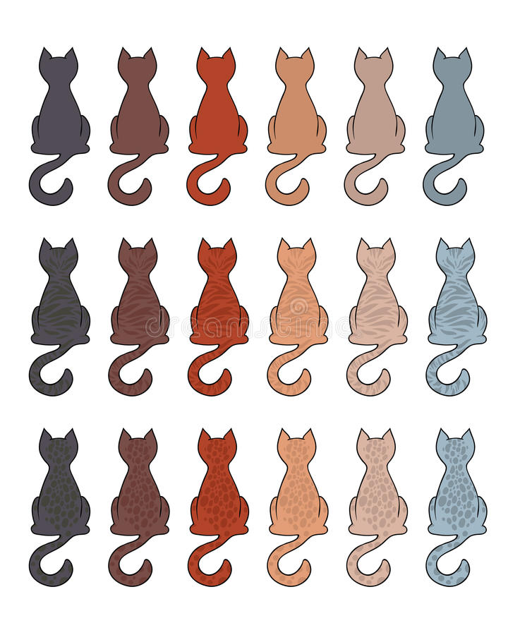 Cat Fur Color Coats Stock Illustration - Image: 50372943