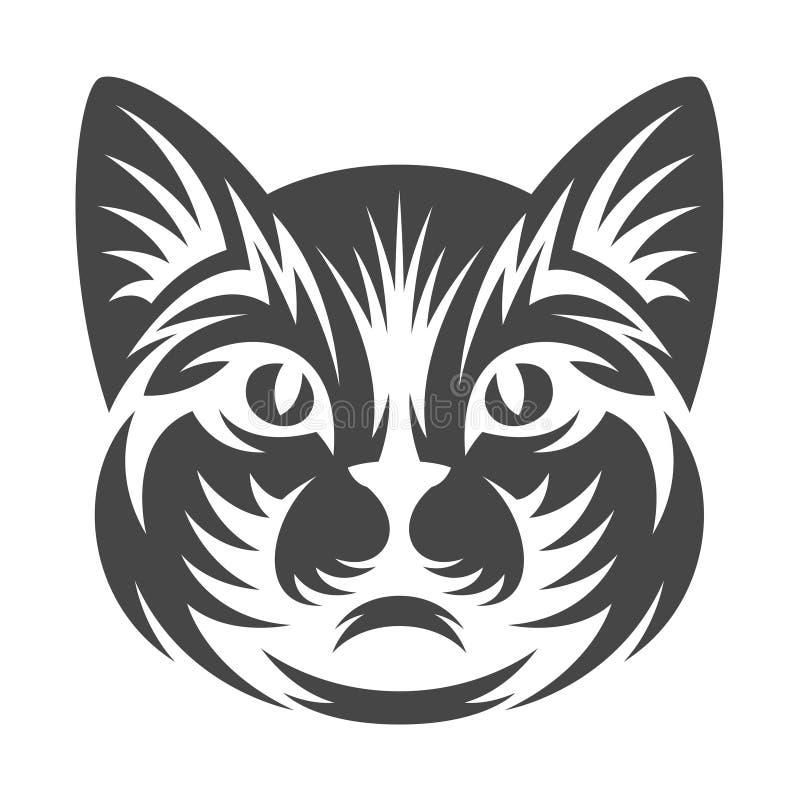 Cat Head ilustração do vetor