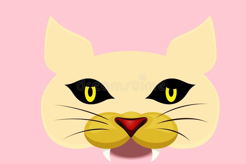 Cat head cartoon illustration symbol icon design. stock images