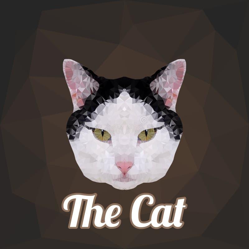 Cat Head Polygon Vetora ilustração do vetor