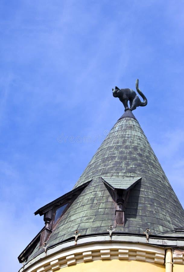 Cat House à Riga images libres de droits