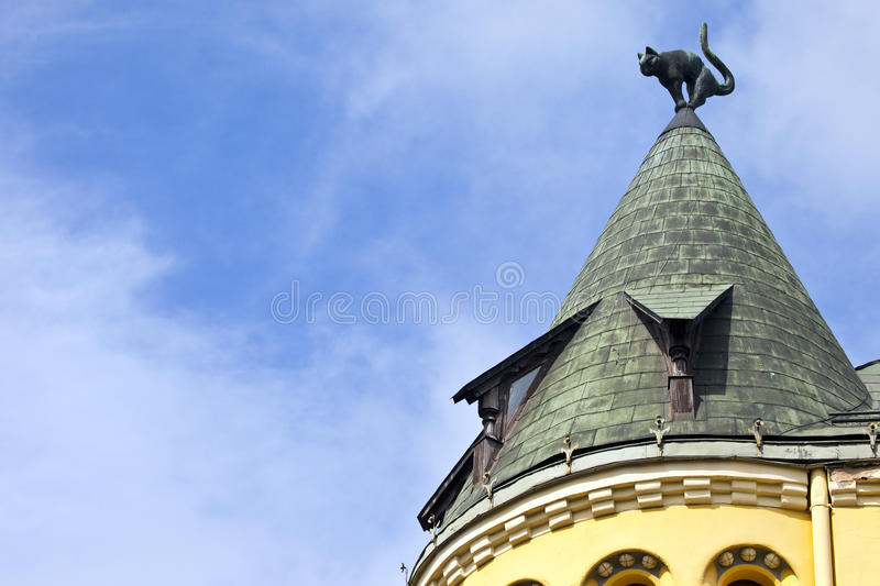 Cat House em Riga fotografia de stock royalty free
