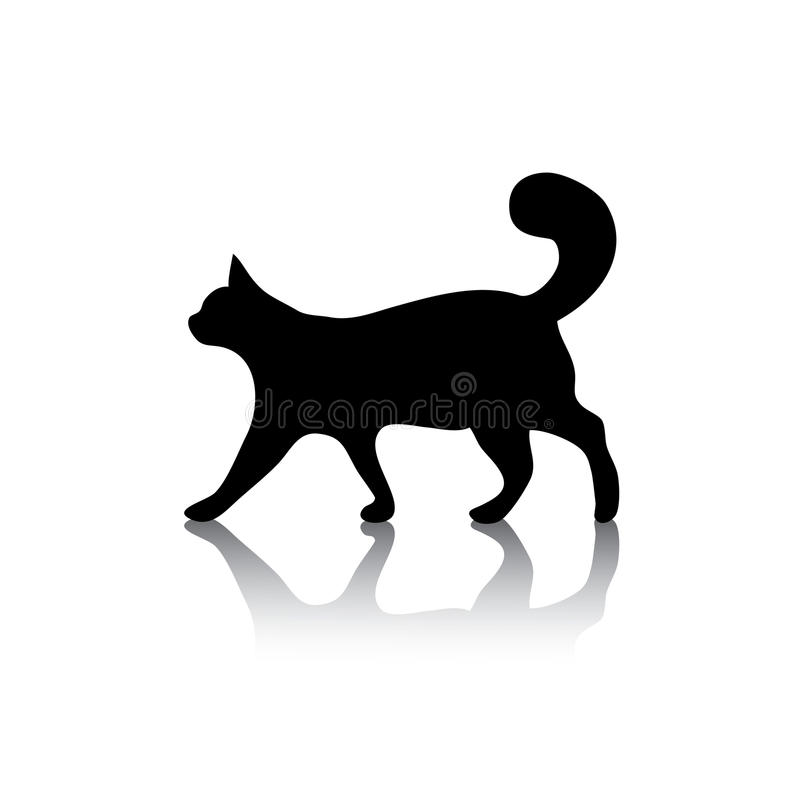Cat icon symbol on white vector illustration