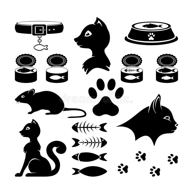 Cat Icons illustrazione vettoriale