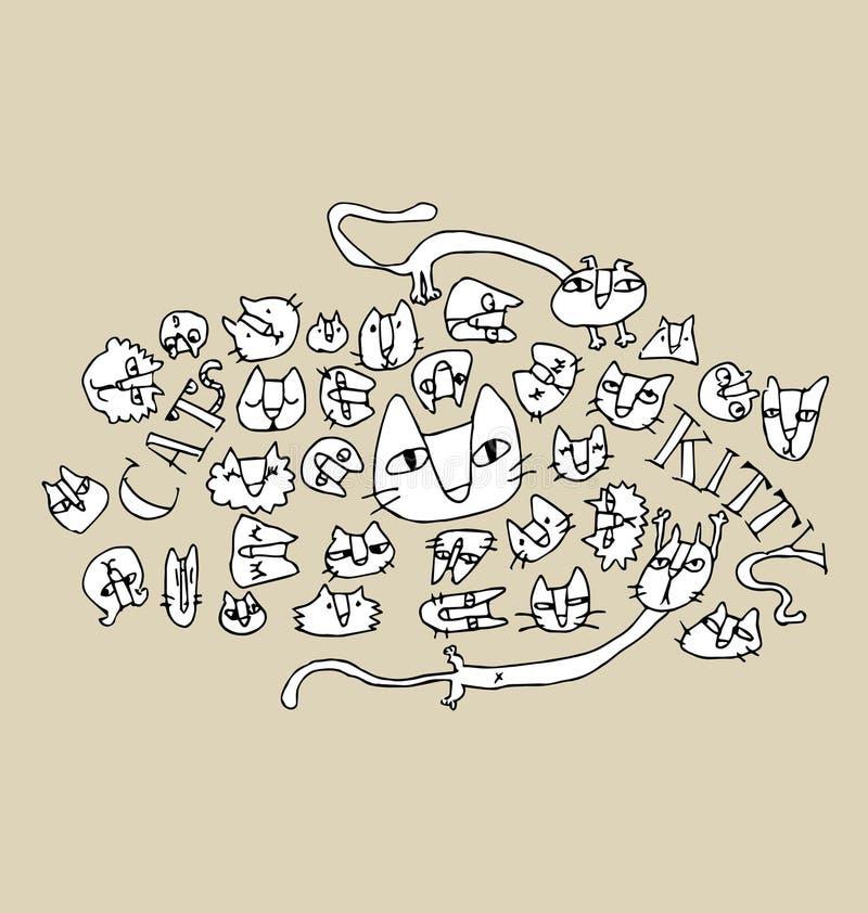 Cat Illustration stock abbildung