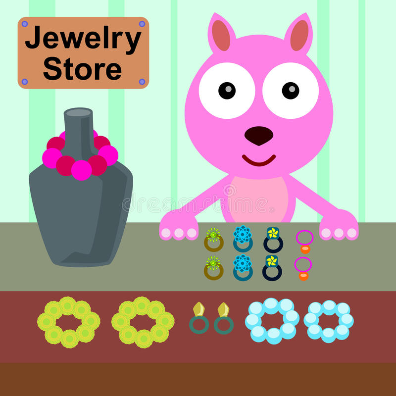 Download Cat and jewels stock illustration. Image of cartoon, jewels - 32396874