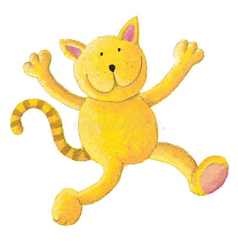 Cat Jumps For Joy Stock Image