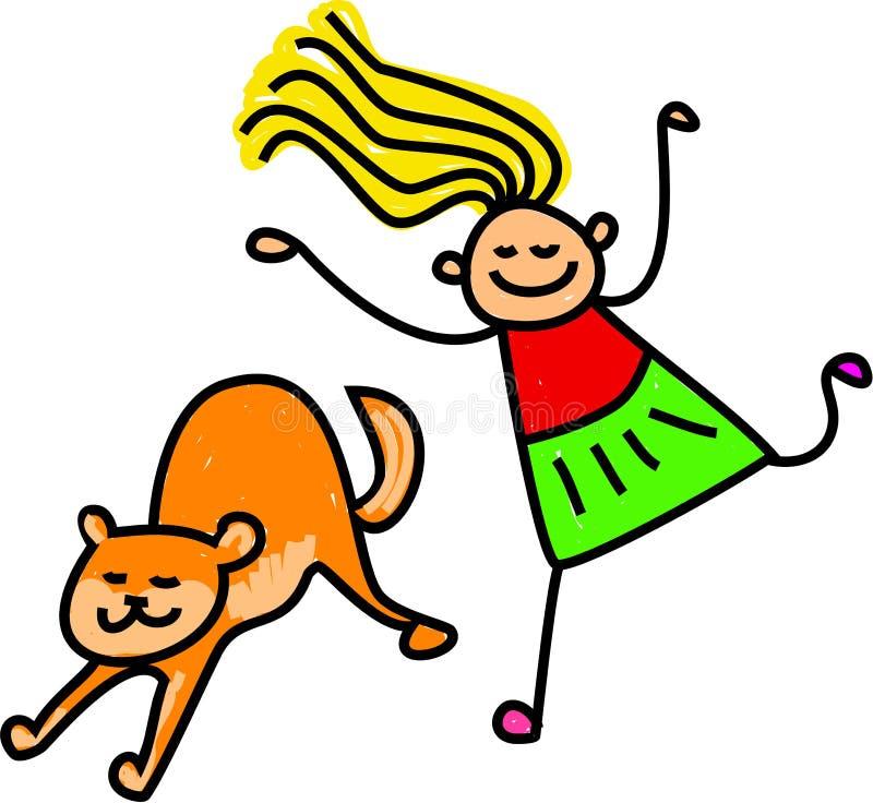 Download Cat Kid stock illustration. Illustration of cute, lifestyle - 25559067