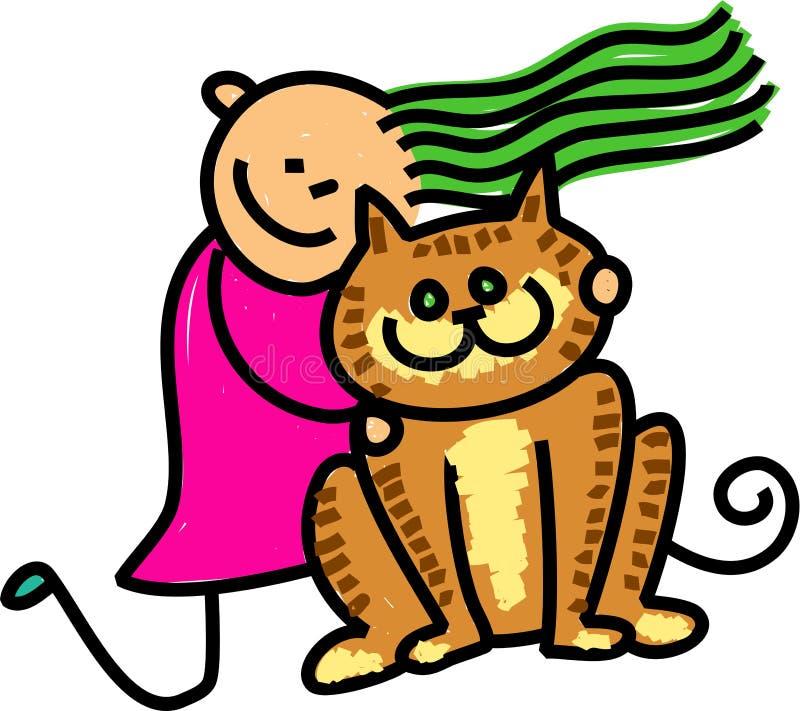 Download Cat Kid stock illustration. Image of figures, cartoon - 25559075