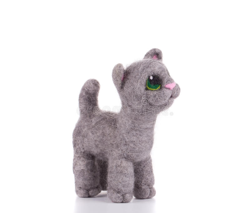 Download Cat - kids toys. stock photo. Image of felt, object, wool - 43454226