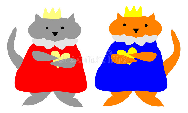 Download Cat King and Queen stock illustration. Image of artwork - 9185673