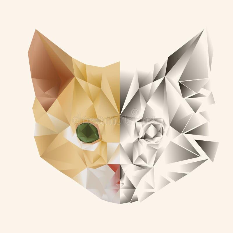 Cat Kitten Vector sveglia illustrazione vettoriale