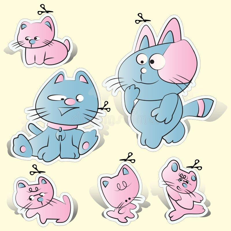 Cat, kitty cartoons paper cut