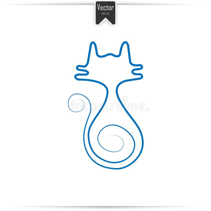 Cat Line Vector royalty free stock photography