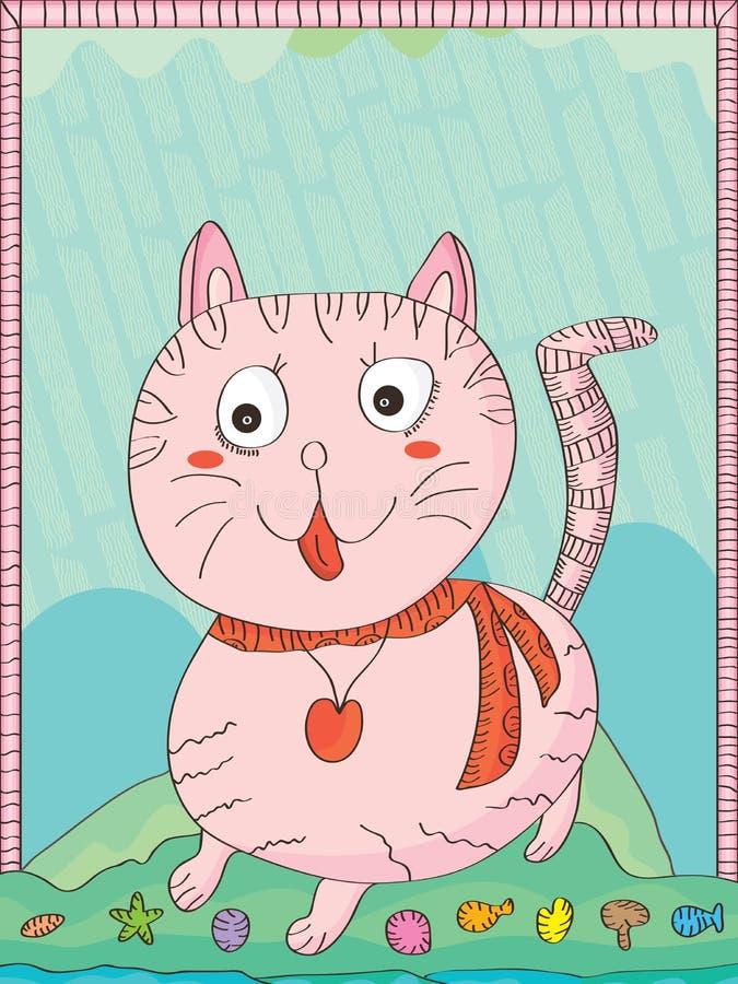 Cat Lines ilustração stock