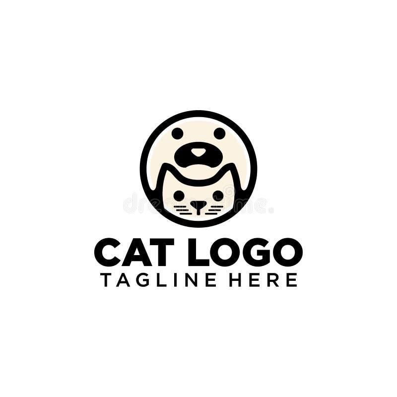 Cat Logo Collection simples e criativa ilustração stock