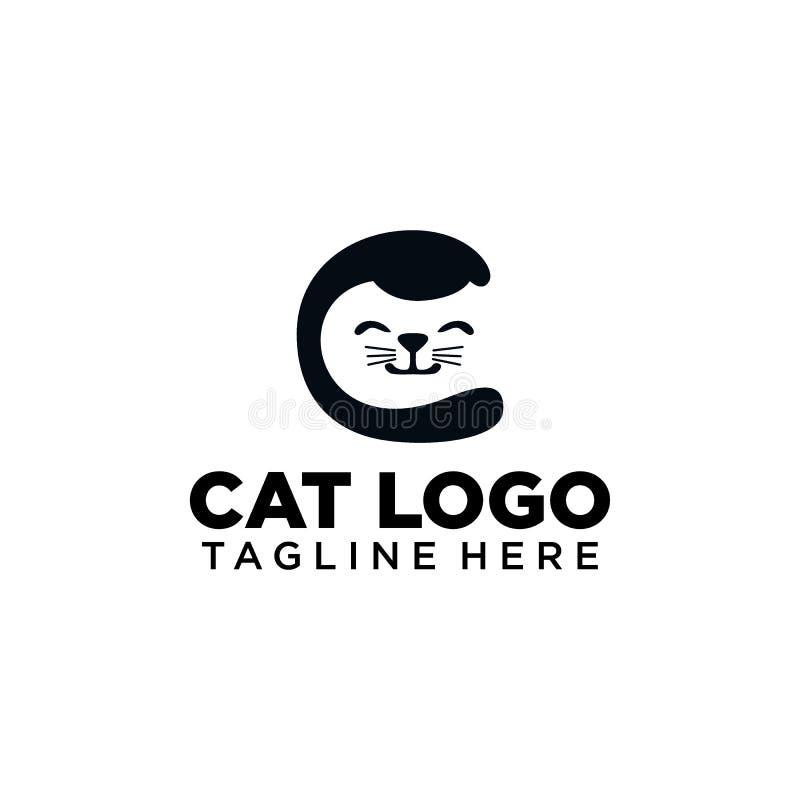 Cat Logo Collection simples e criativa ilustração royalty free