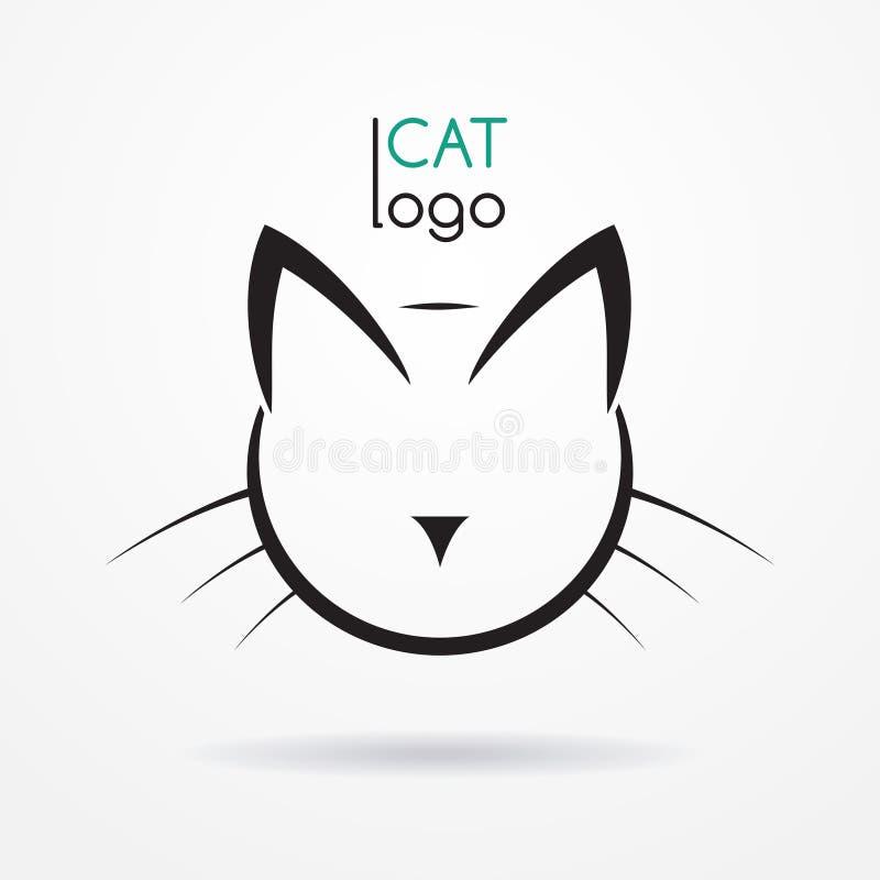 Cat logo royalty free illustration