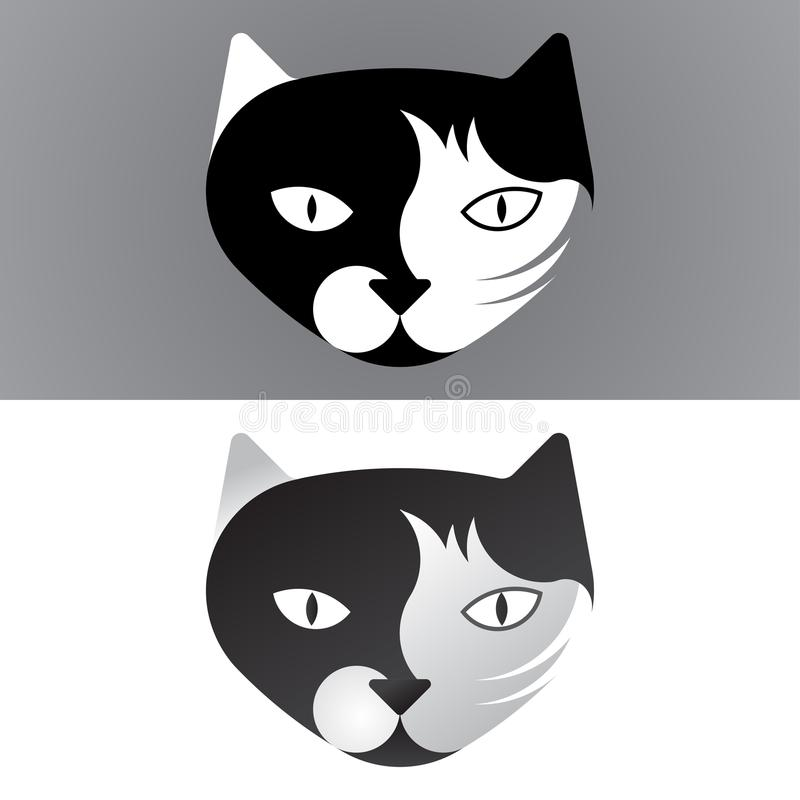 Cat logo template, sign or icon made with golden ratio principles royalty free stock image