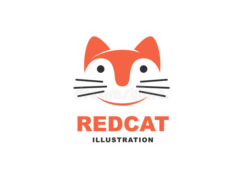 Cat logo - vector illustration, emblem on white background stock illustration