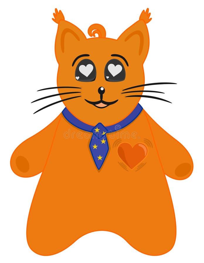 Cat in love stock illustration