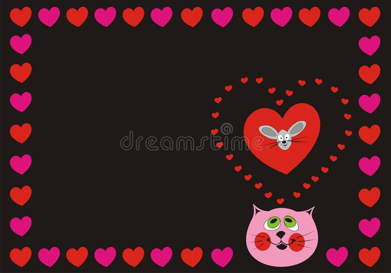 Download Cat Love stock vector. Image of background, valentines - 12482706