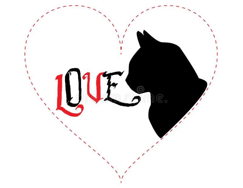 Cat Love - ilustração do vetor foto de stock royalty free
