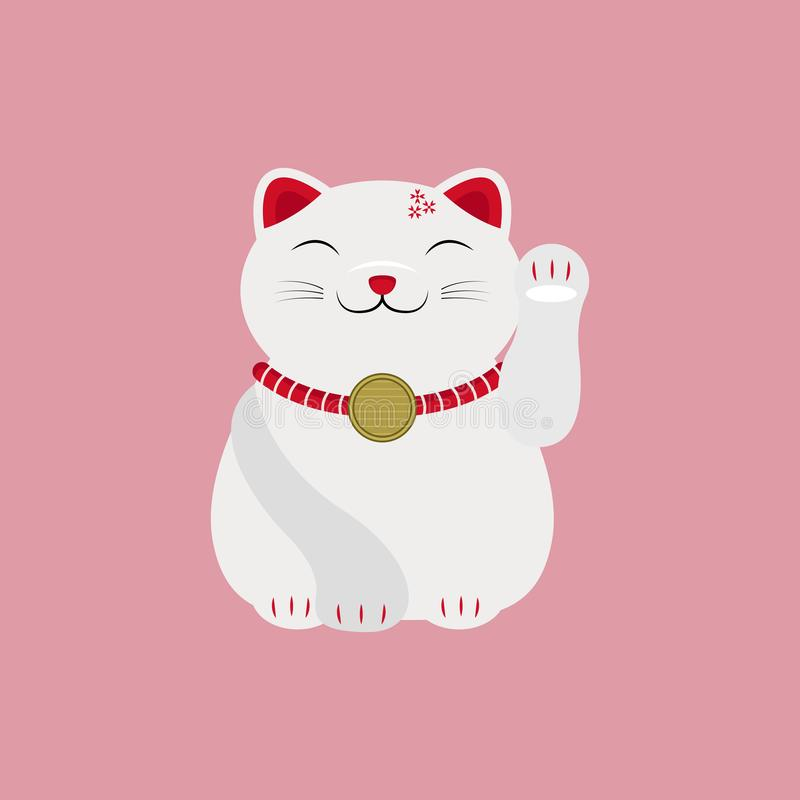 Cat Lucky Charm Talisman Vector giapponese royalty illustrazione gratis