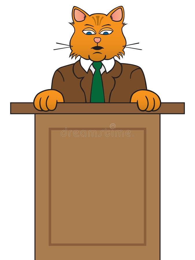 Cat Making Speech vector illustratie