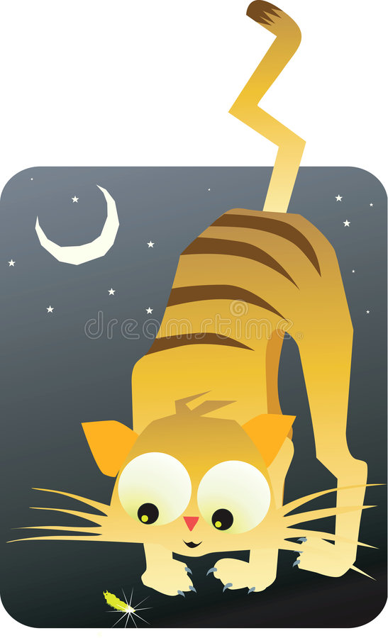 Download Cat And Moon Royalty Free Stock Photography - Image: 3789957