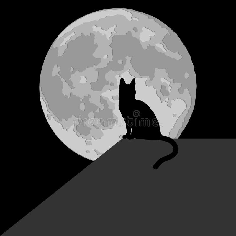 Download Cat in the moonlight stock vector. Illustration of halloween - 29212814