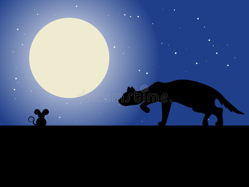 Cat And Mouse. Cat Mouse Illustration