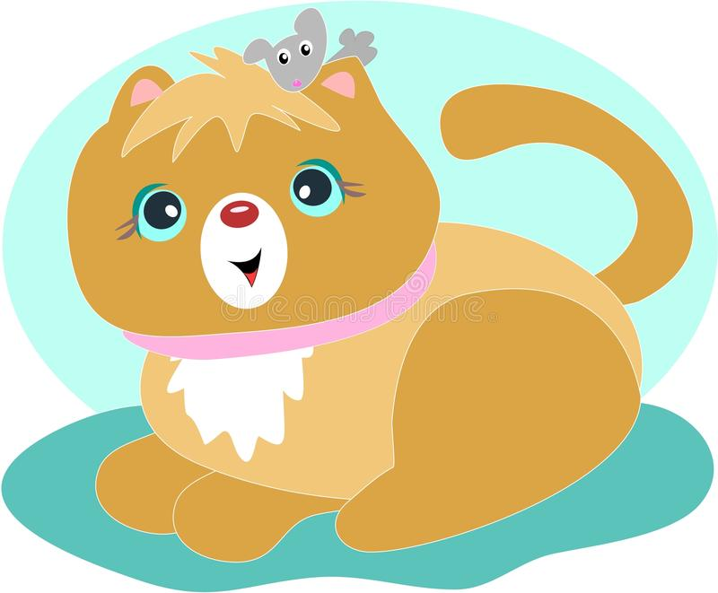 Download Cat and Mouse are Friends stock vector. Illustration of cartoon - 16579143